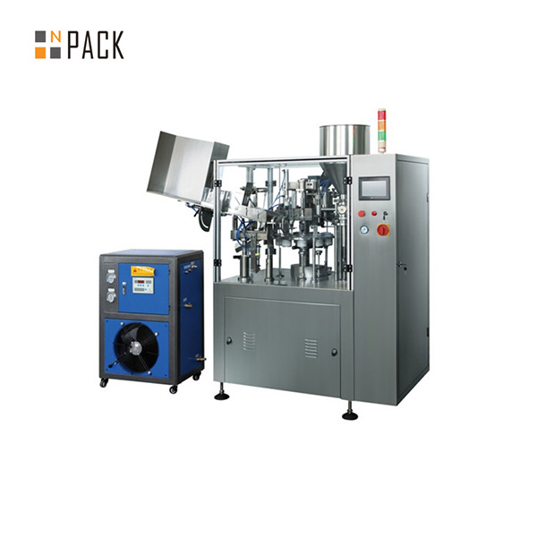 Máquina automática de llenado y sellado de tubos blandos de betún