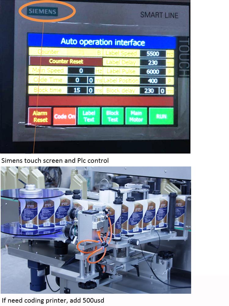 Precio de la máquina de etiquetado automático de botella de doble cara