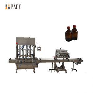 Máquina automática de tapado de tapas de botellas de plástico PET con tapa de husillo