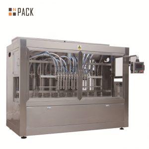 Máquina automática de llenado de 8 boquillas de llenado líquido / pasta / salsa / miel