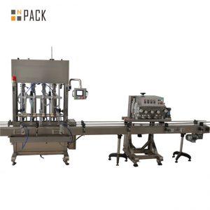 Máquina de obturación y sellado de llenado de frascos con bomba peristáltica de sobremesa