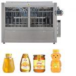 Salsa tipo servo pistón automática Mermelada de miel Línea de máquina de etiquetado de llenado de líquido de alta viscosidad