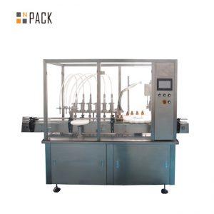 Equipo de atornillado de tapa de llenado de aceite esencial 10-100ml E líquido E jugo Máquina de tapado de llenado