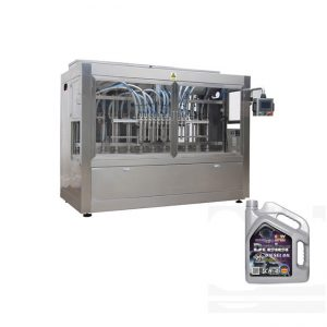 Máquina automática de llenado de aceite de motor para botellas de plástico