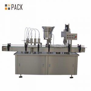 Máquina automática de llenado y llenado de botellas con cuentagotas de gotas de ojos de 10 ml, 15 ml y 30 ml